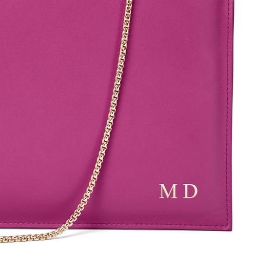 Soho Clutch in Smooth Orchid & Orchid Saffiano from Aspinal of London