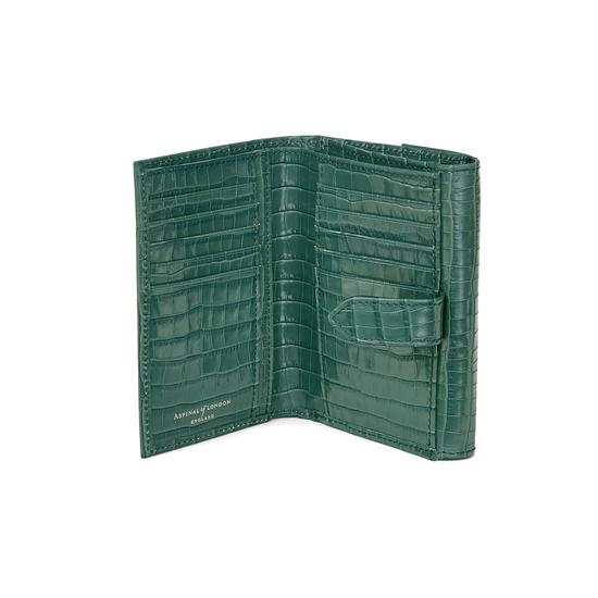 Small Mayfair Purse in Deep Shine Sage Small Croc from Aspinal of London