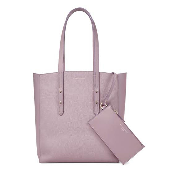 Aspinal Essential Tote in Lilac Pebble from Aspinal of London