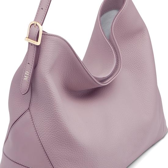 Aspinal Hobo Bag in Lilac Pebble from Aspinal of London