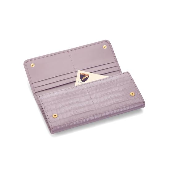 Lottie Purse in Deep Shine Lilac Small Croc from Aspinal of London