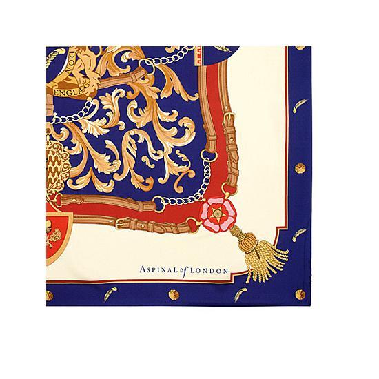 Signature Silk Twill Scarf in Blue (27.5