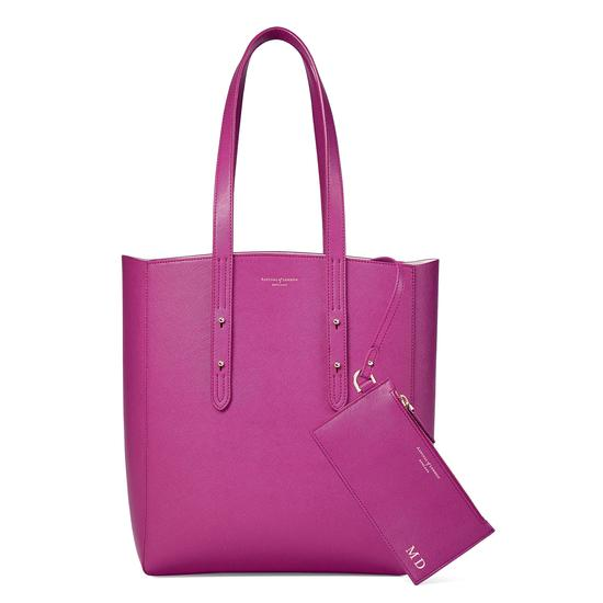 Aspinal Essential Tote in Orchid Saffiano from Aspinal of London