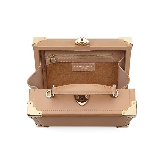 Mini Trunk Clutch in Smooth Deer from Aspinal of London