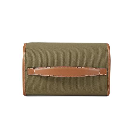 Aerodrome Travel Pack in Khaki Canvas & Smooth Tan from Aspinal of London