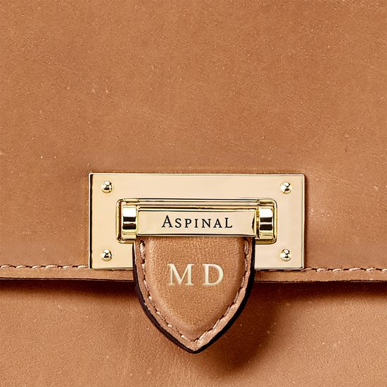City Document Case in Smooth Natural Tan from Aspinal of London