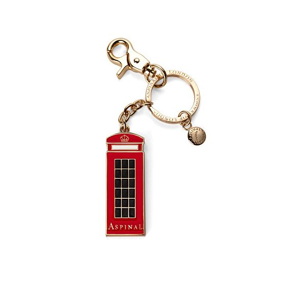 London Telephone Box Key Ring from Aspinal of London