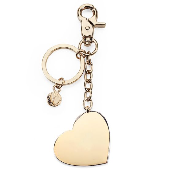 Gold Plated Heart Handbag Charm & Keyring from Aspinal of London