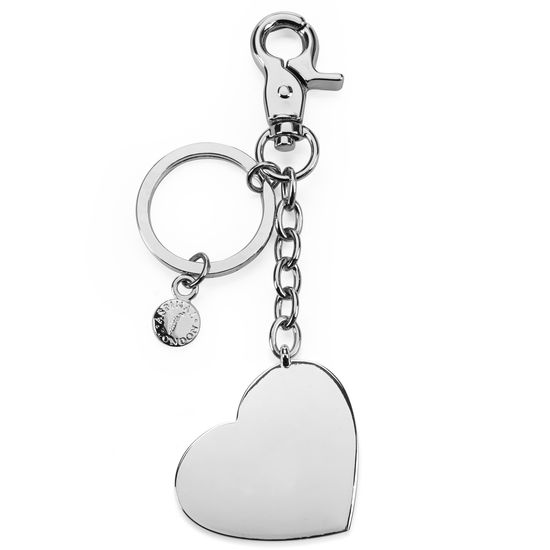 Silver Plated Heart Handbag Charm & Keyring from Aspinal of London