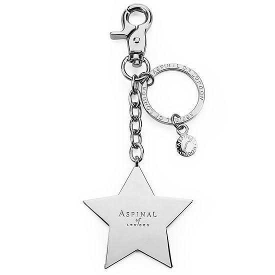 Silver Plated Star Handbag Charm & Keyring from Aspinal of London