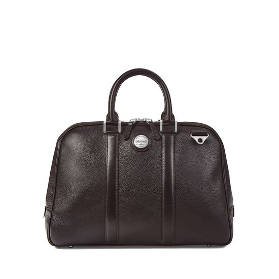 Aerodrome 24 Hour Mission Bag in Dark Brown Pebble from Aspinal of London