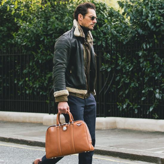 Aerodrome 24 Hour Mission Bag in Smooth Tan from Aspinal of London