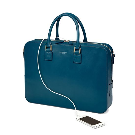Small Mount Street Bag in Smooth Topaz from Aspinal of London