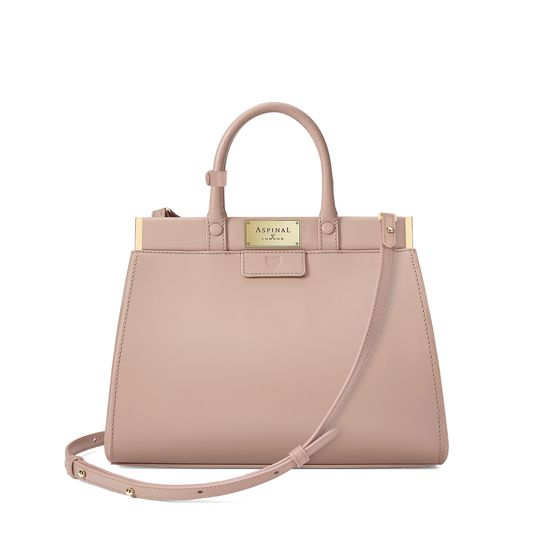 Small Florence Snap Bag in Smooth Soft Taupe from Aspinal of London