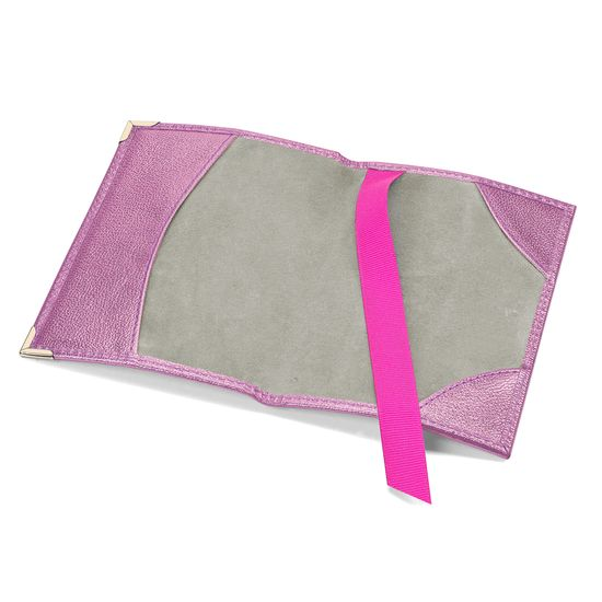 Passport Cover in Flamingo Pink Metallic from Aspinal of London