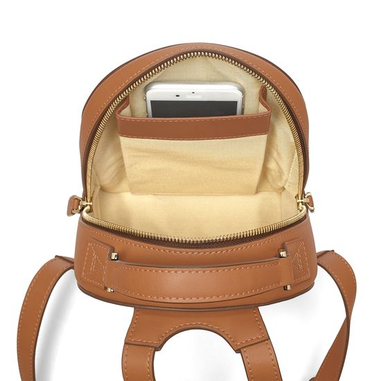 Micro Mount Street Backpack in Smooth Tan from Aspinal of London