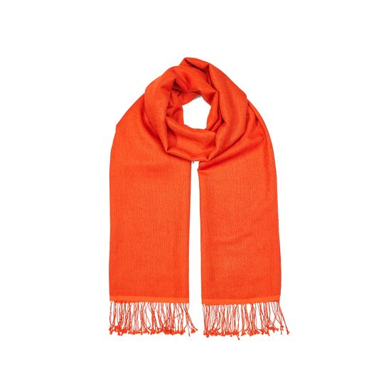 Essential Silk & Cashmere Pashmina in Amber from Aspinal of London