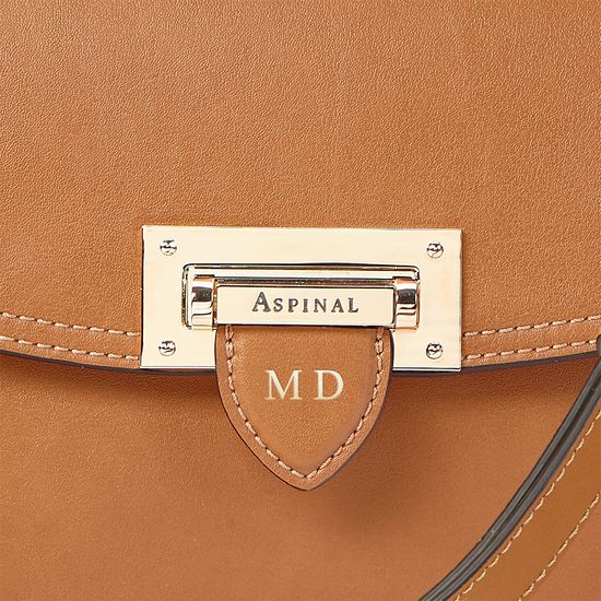 Letterbox Saddle Bag in Smooth Tan from Aspinal of London