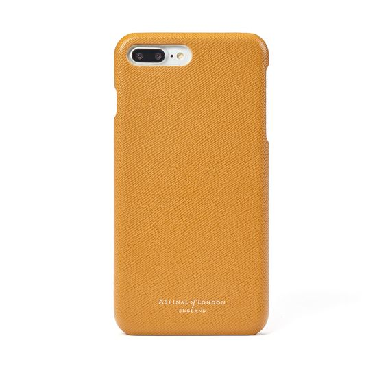iPhone 7 Plus Leather Cover in Mustard Saffiano from Aspinal of London