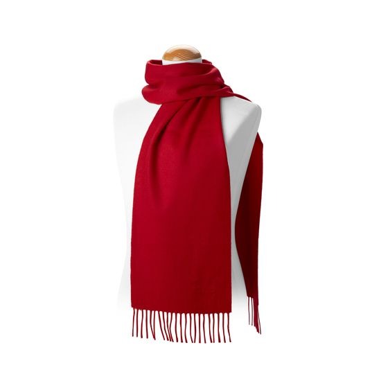 Pure Cashmere Scarf in Red from Aspinal of London
