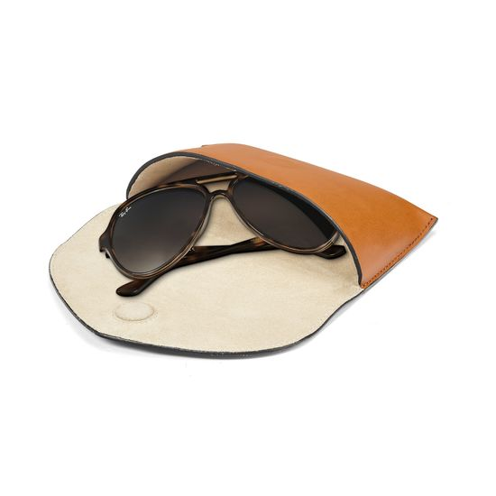 Leather Sunglasses Case in Smooth Tan from Aspinal of London