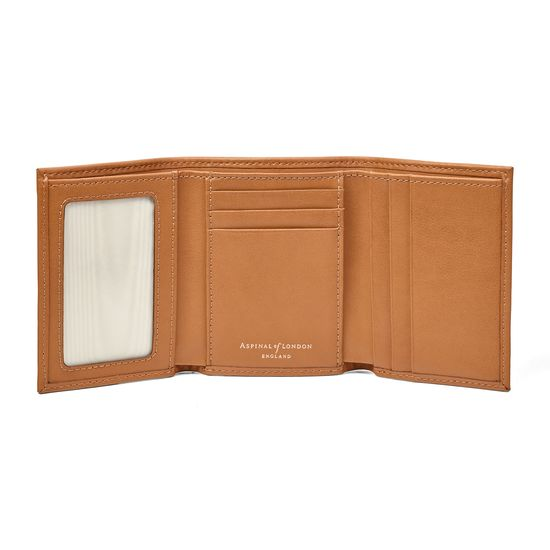 Trifold Wallet in Smooth Tan from Aspinal of London