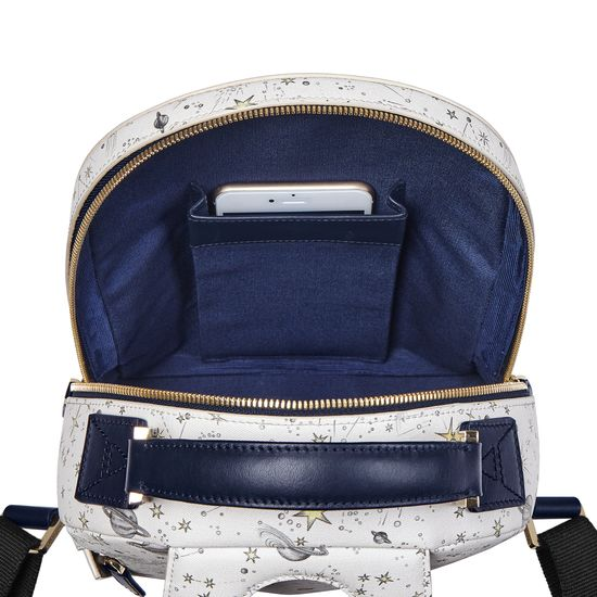 Constellation Backpack in Ivory Constellation Print from Aspinal of London