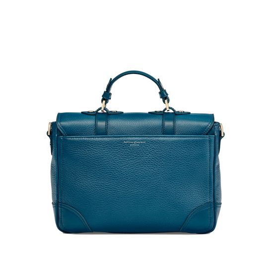 Small City Mollie Satchel in Topaz Pebble from Aspinal of London