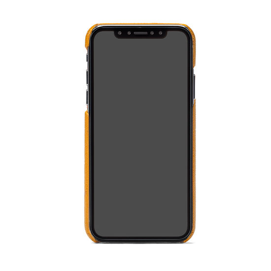 iPhone X Leather Cover in Mustard Saffiano from Aspinal of London