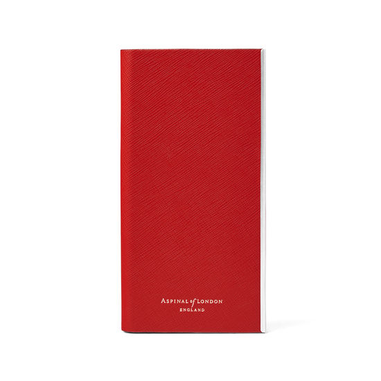 iPhone 7/8 Leather Book Case in Scarlet Saffiano from Aspinal of London