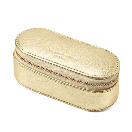 Handbag Tidy All in Pale Gold Pebble from Aspinal of London