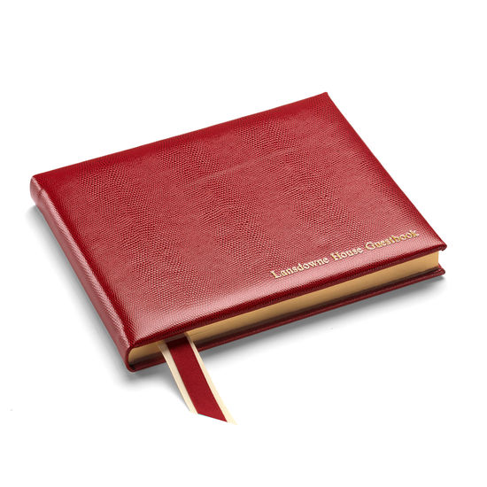 Lizard Print Guest Book in Berry Lizard from Aspinal of London