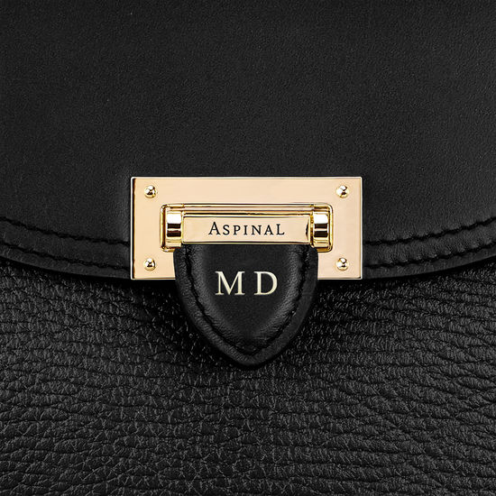 Portobello Bag in Black Pebble from Aspinal of London