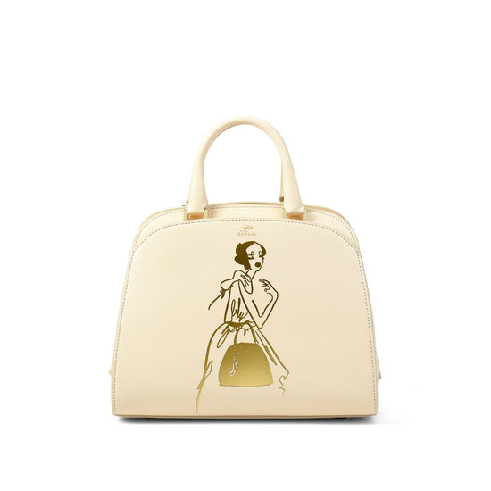 Giles x Aspinal (Mini Hepburn Bag - Smooth Ivory) from Aspinal of London