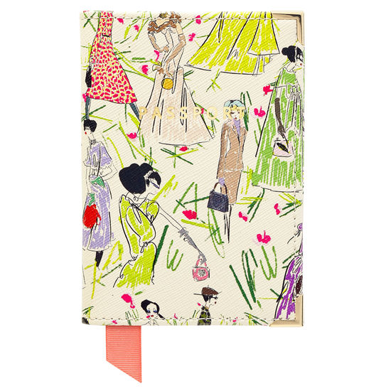 Giles x Aspinal (Passport Cover - Girls Print) from Aspinal of London