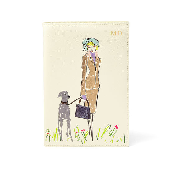 Giles x Aspinal (Refillable A5 Journal - Girl Print) from Aspinal of London