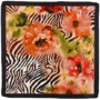 Watercolour Peony Print Silk Scarf in Black from Aspinal of London