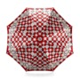Ladies Marylebone Stand Up Umbrella in Berry Red & Navy Blue from Aspinal of London